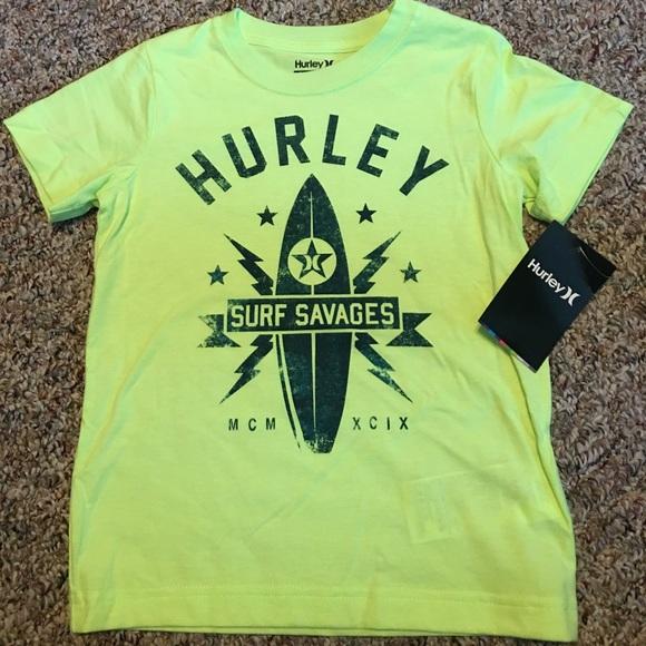 a1a71e6b09 New Boys Kids Hurley T-shirt Bright Surfboard NWT